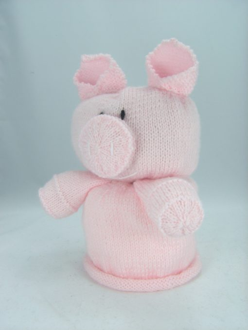 pig toilet roll cover knitting pattern pink