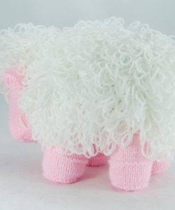 knitted sheep pattern loop stitch side