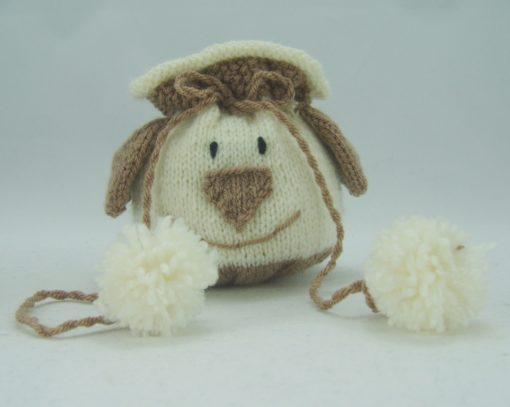 dog drawstring bag knitting pattern pdf download leaflet