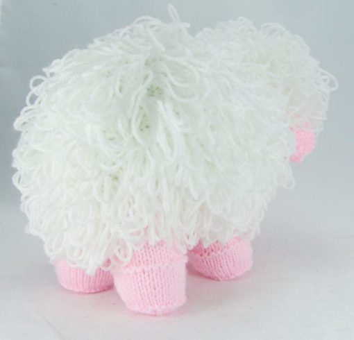 knitted sheep pattern loop stitch back