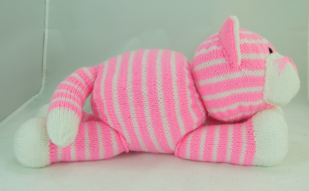 Cuddles The Cat Soft Toy Knitting Pattern Knitting By Post