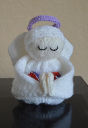 Chocolate Egg Angel Knitting Pattern