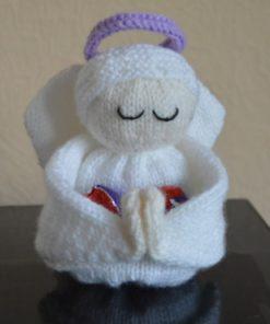 knitted egg angel