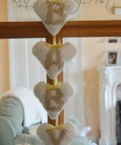 baby heart nursery decoration knitting pattern letters