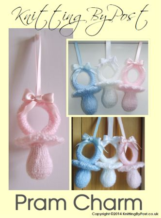 dummy pram charm knitting pattern
