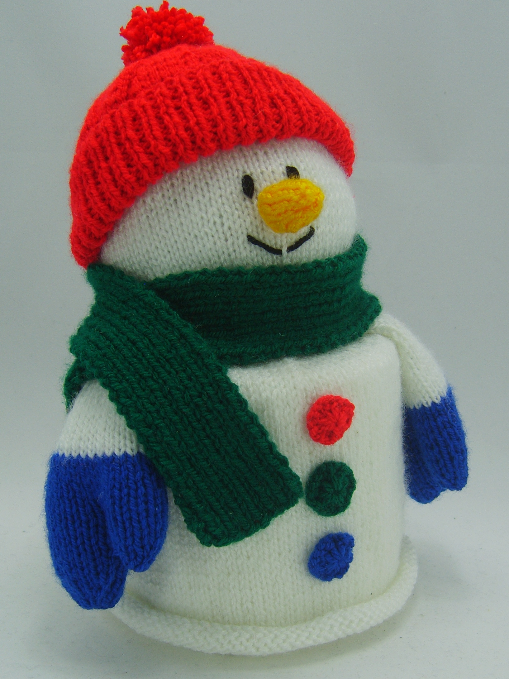 Snowman Toilet Roll Cover Knitting Pattern – Knitting by Post