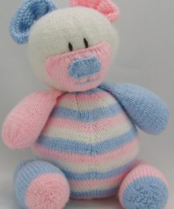 nursery bear doorstop knitting pattern pdf and download pink white blue