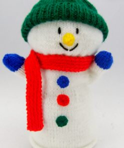 snowman hand puppet knitting patterns