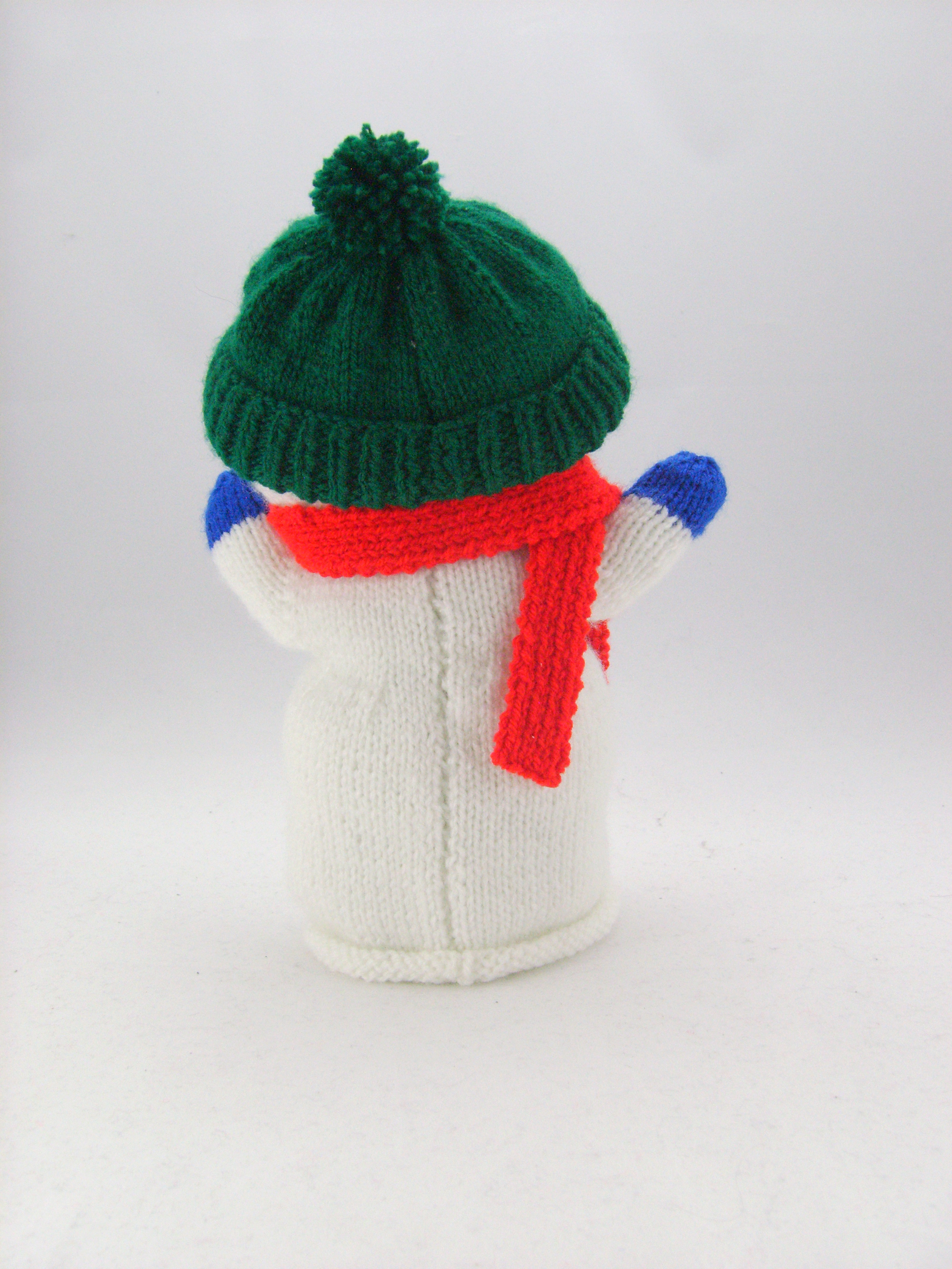 Snowman Hand Puppet Knitting Pattern • Knitting by Post