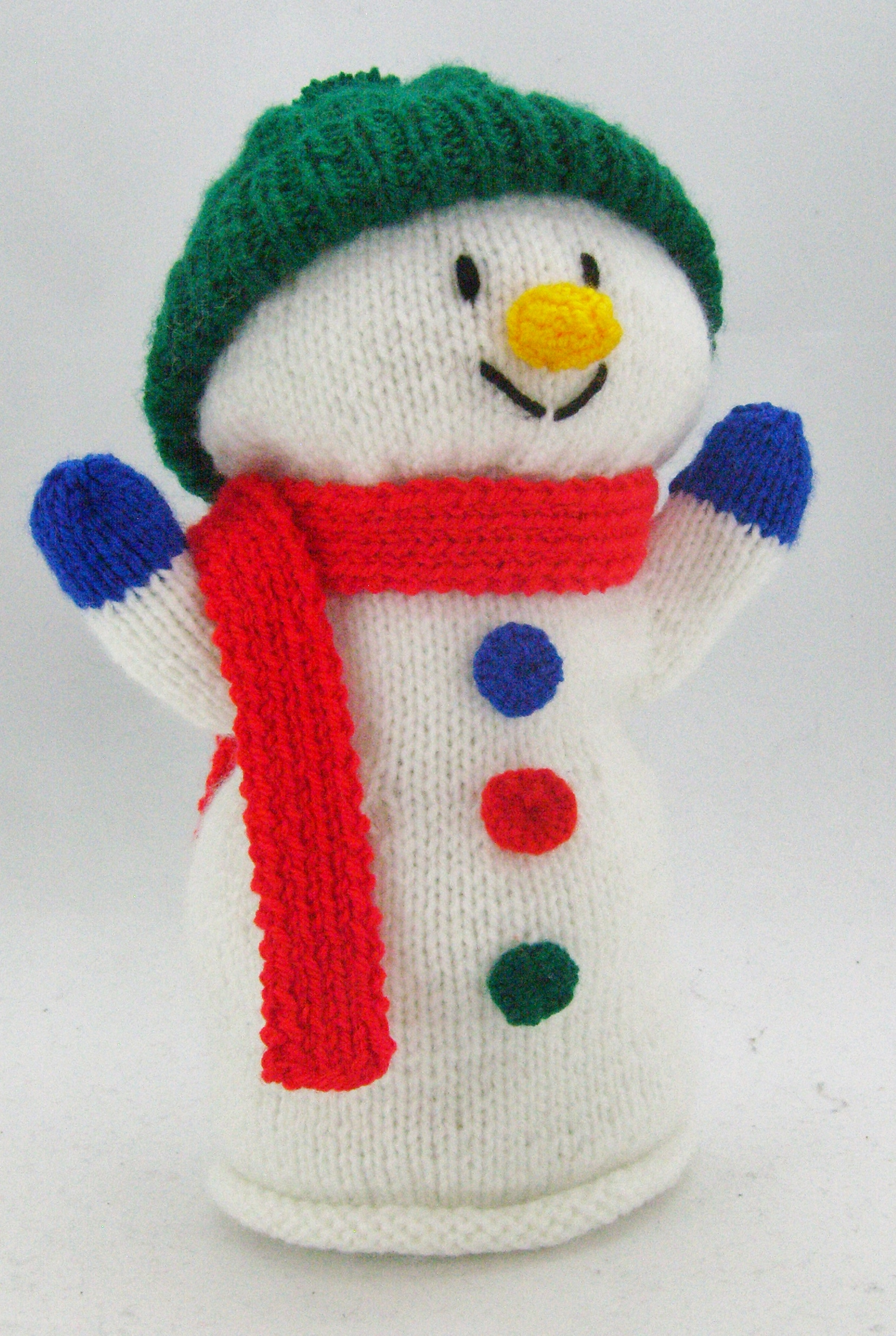 Snowman Hand Puppet Knitting Pattern Knitting By Post