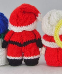mini christmas characters knitting pattern