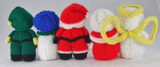 mini christmas characters knitting pattern