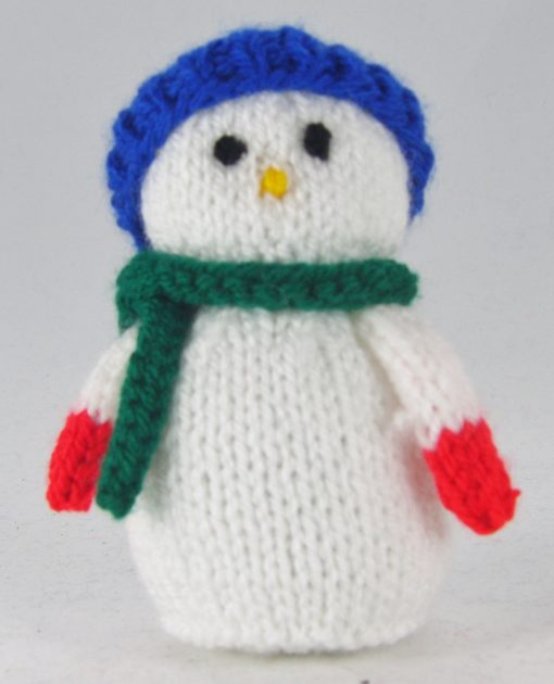 mini snowman knitting pattern