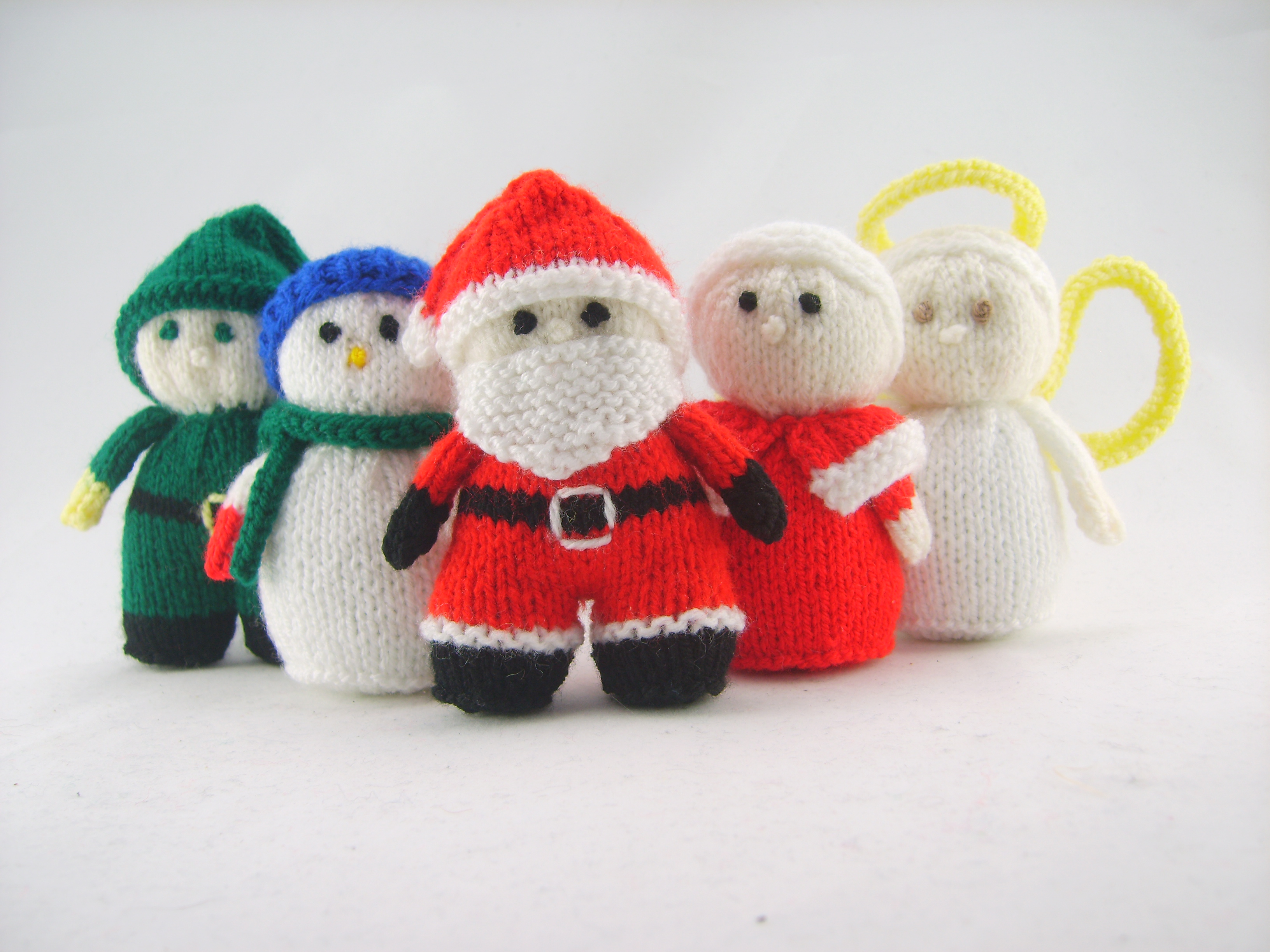 Mini Knitted Christmas Characters Knitting Pattern Knitting by Post