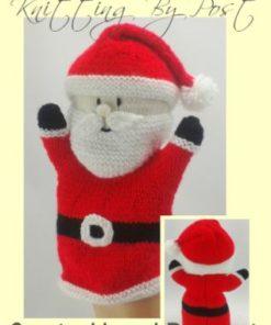 santa christmas puppet knitting pattern red white black double knitting yarn