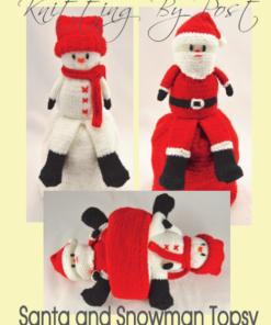 santa snowman topsy doll knitting pattern