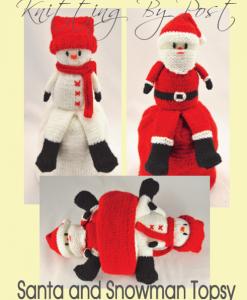 Santa-Snowman-Topsy-Doll