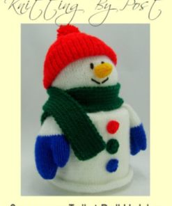 snowman toilet roll cover knitting pattern white double knitting