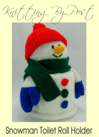 snowman toilet roll cover knitting pattern pdf download leaflet front page