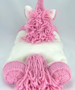 unicorn pyjama case knitting pattern back