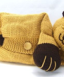bear pyjama case knitting pattern