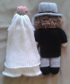 bride and groom knitting pattern back