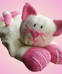 cat pyjama case knitting pattern