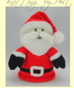 santa christmas toilet roll paper cover knitting pattern