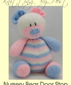baby nursery teddy bear doorstop knitting pattern