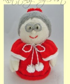 Mrs santa toilet roll cover knitting pattern front page