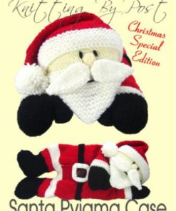 santa pyjama case knitting pattern