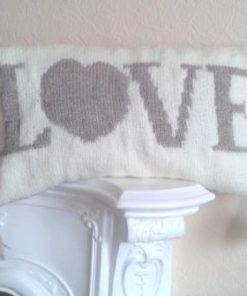 love cushion cover knitting pattern