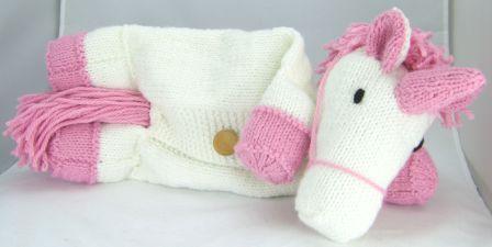 unicorn pyjama case knitting pattern side
