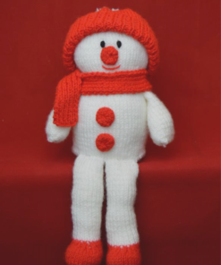 snowman on shelf knitting pattern