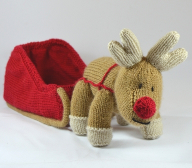Reindeer And Sleigh Knitting Pattern Knitting By Post