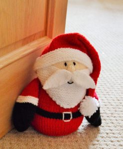 santa doorstop knitting pattern