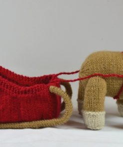 reindeer and sleigh knitting pattern