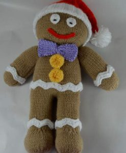 gingerbread man knitting pattern