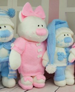 Beau Bears toy knitting pattern