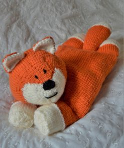 fox pyjama case knitting pattern