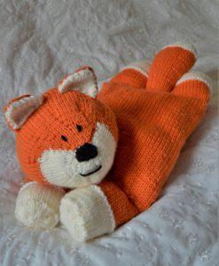 fox pyjama case knitting pattern