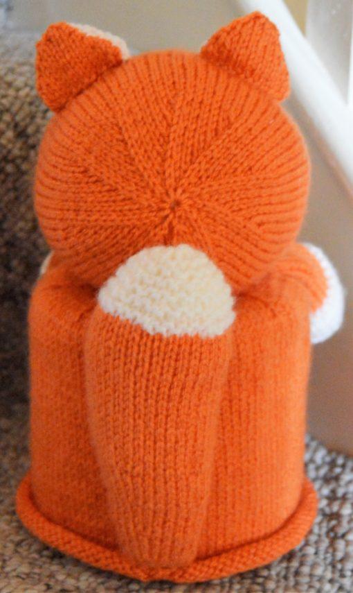Fox Toilet Roll Cover Knitting Pattern