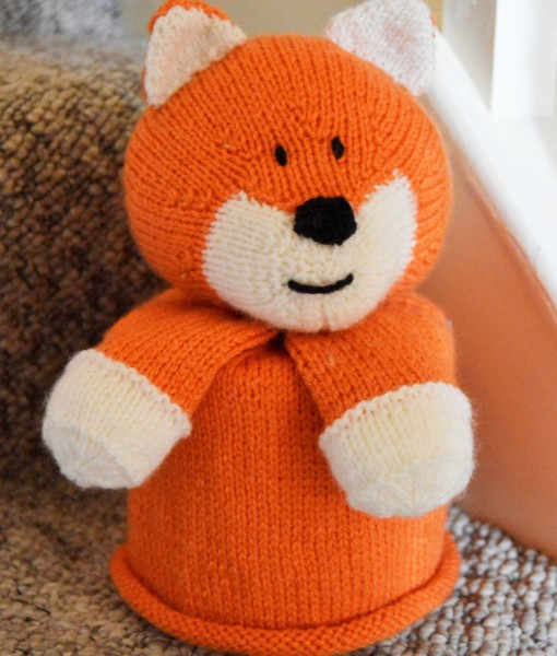 Fox Toilet Roll Cover Knitting Pattern