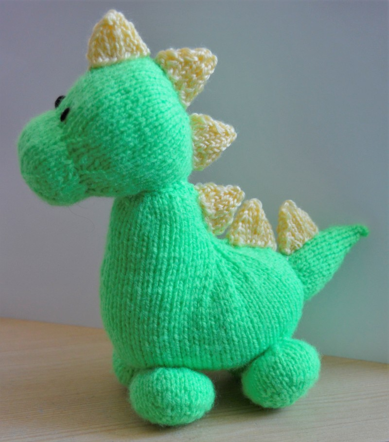 Knit Dinosaur Pattern : Dinky Dino Knitting Pattern   Knitting by Post