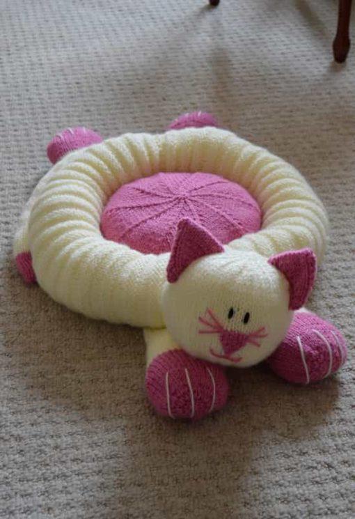 cat snuggler pet bed