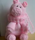 Pig gift bag pattern
