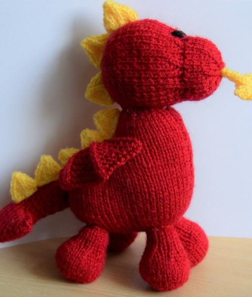 knitted dragon pattern
