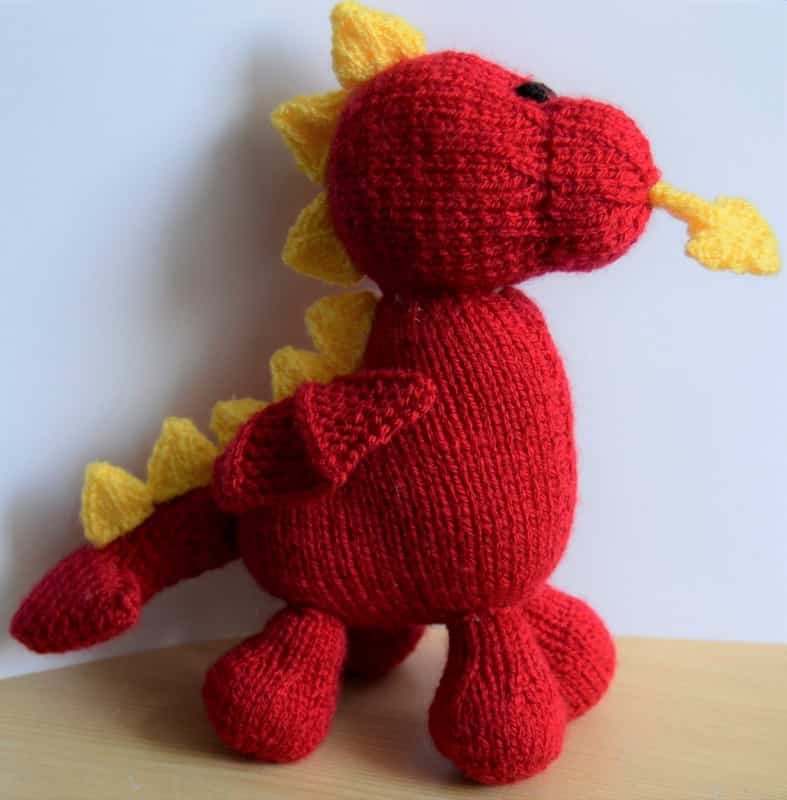 Dave The Dragon Knitting Pattern Knitting By Post