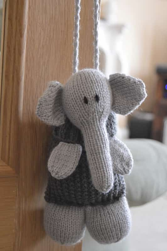 Elephant Baggles Gift Bag • Knitting by Post
