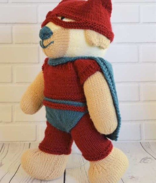superhero knitting pattern